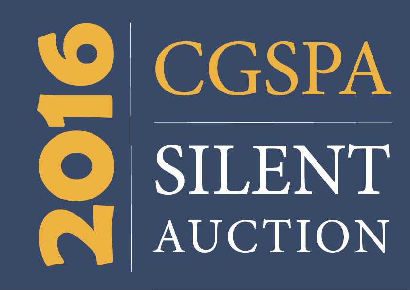 CGSPA silent auction blue gold new