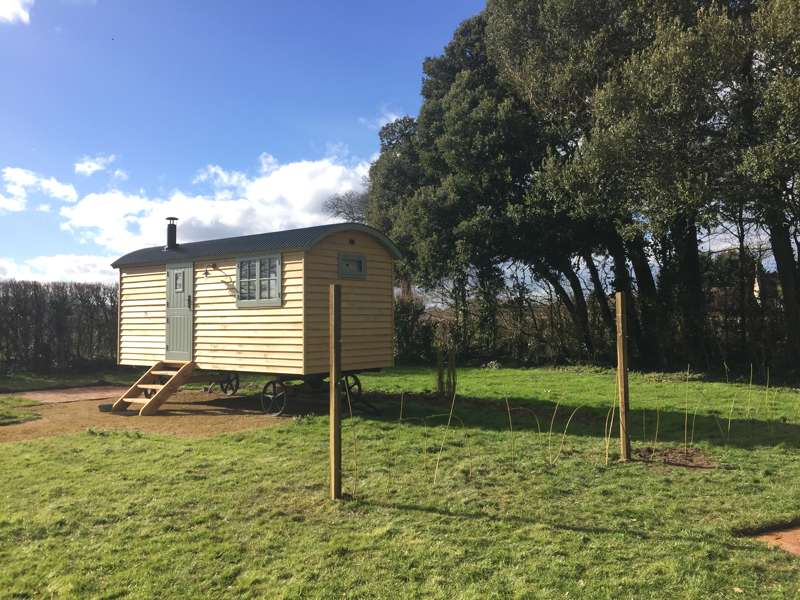 2 night stay for 2 adults in a shepherds hut on a farm in Somerset