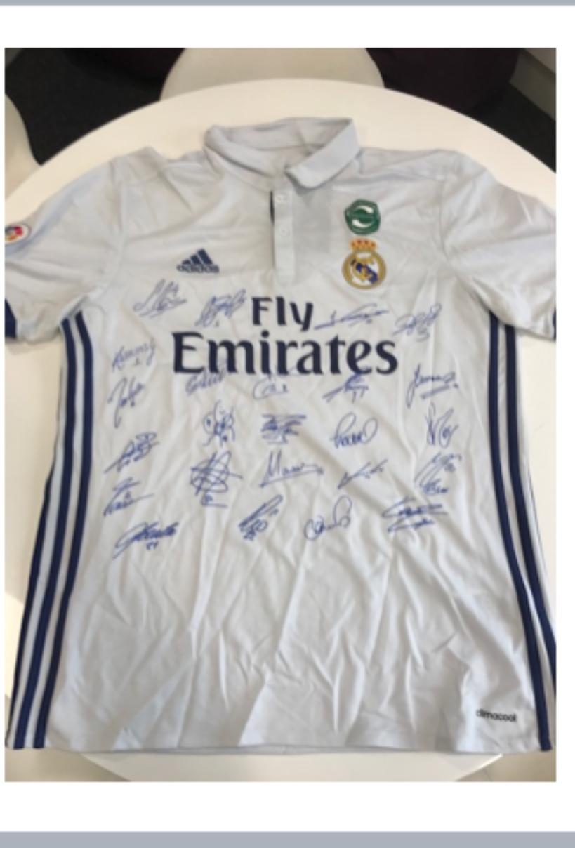 Signed Real Madrid Shirt