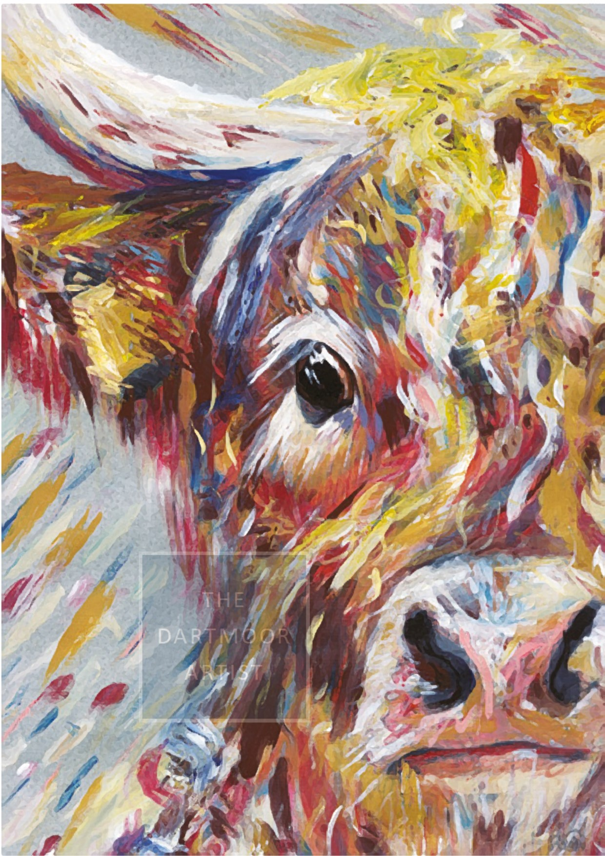 Signed Impecca-Bull A3 mounted print